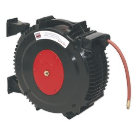 RETRACTABLE AIR HOSE REEL 15MTR Ø13MM ID RUBBER HOSE FROM SEALEY SA8812 SYD