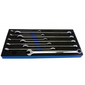 EXTRA LONG COMBINATION SPANNER SET 10 PIECE BRITOOL HALLMARK CEXMSET10TC