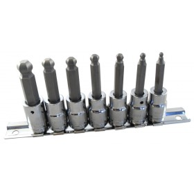 "BRITOOL HALLMARK MBEHS7 3/8"" BALL-END HEXAGON BIT SOCKET SET"