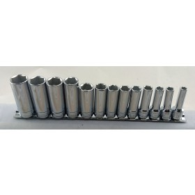 "DEEP SOCKET SET 3/8"" DRIVE SIZES 7-19MM FROM BRITOOL"