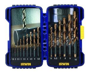 15 PIECE TURBOMAX DRILL BIT SET 1.5-10MM IRWIN TOOLS