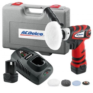 ACDELCO 10.8V CORDLESS LITHIUM-ION MINI POLISHER POWER TOOL KIT 2 A/H BATTERIES