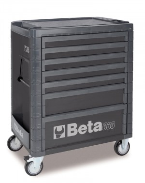 7 DRAWER ROLL CAB TOOLBOX FROM BETA - GREY