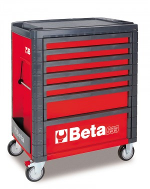 7 DRAWER ROLL CAB TOOLBOX FROM BETA - RED